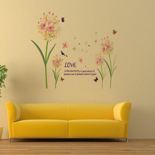 Sticker perete Love is Like a Butterfly