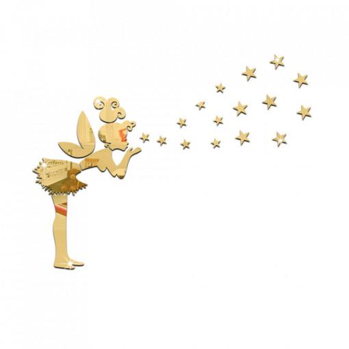 Sticker perete Mirror Fairy Gold