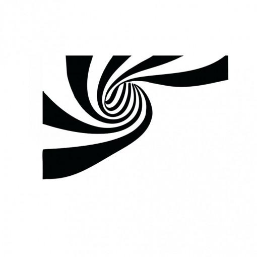 Sticker perete Optical Illusion Stripes