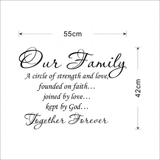 Sticker perete Our Family Together Forever