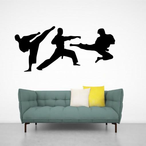 Sticker perete Siluete Karate 2