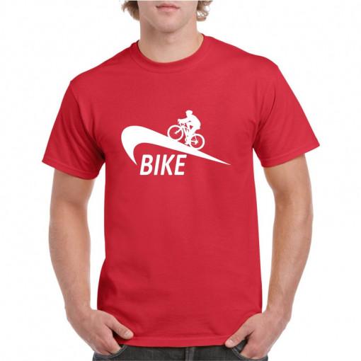Tricou personalizat barbati rosu Bike