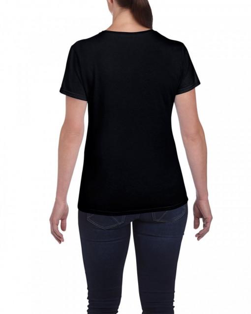 Tricou personalizat dama negru Esti prea aproape de mine S