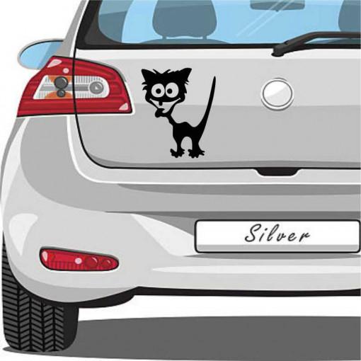 Sticker auto Pisica neagra 2