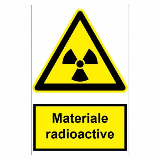 Sticker indicator Materiale radioactive