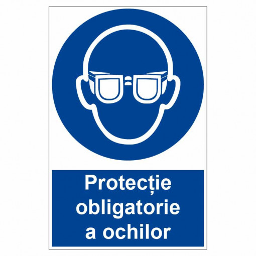 Sticker indicator Protectie obligatorie a ochilor