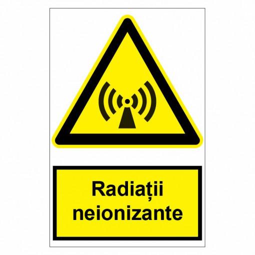 Sticker indicator Radiatii neionizante