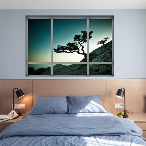 Sticker perete Baobas Tree 3D Window