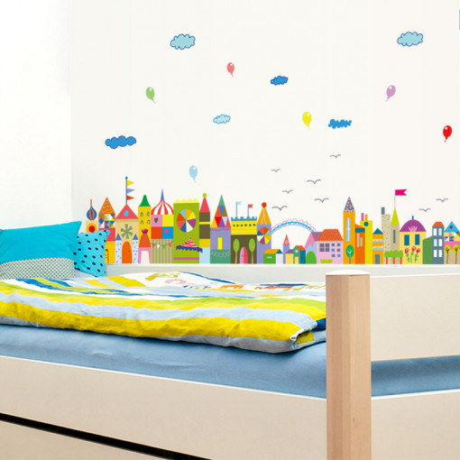 Sticker perete Colourful City