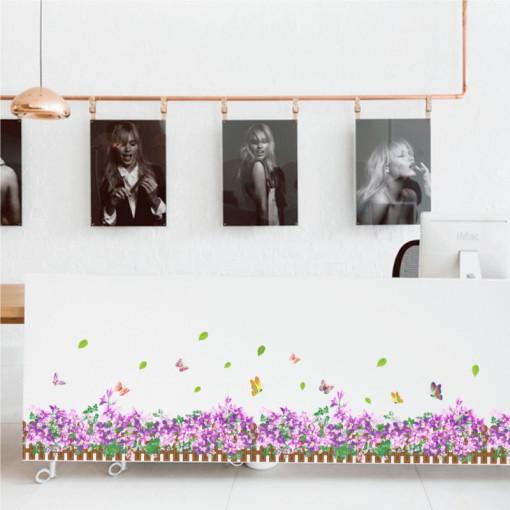 Sticker perete / geam Purple Flowers