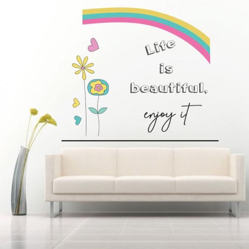 Sticker perete Life is Beautiful - Enjoy It