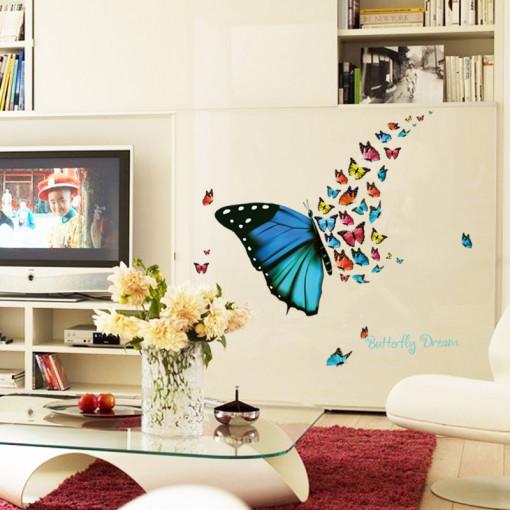 Sticker perete Magic butterfly 30x60cm