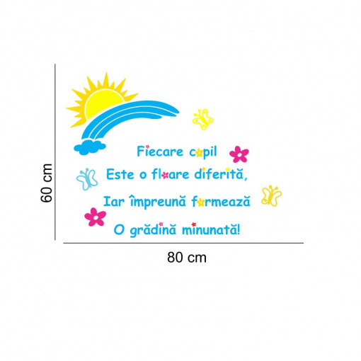 Sticker perete O gradina Minunata