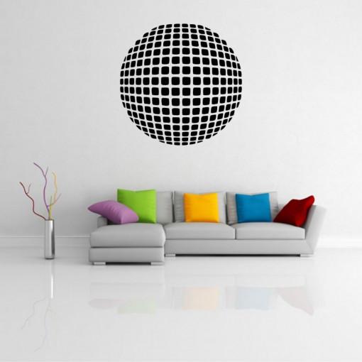 Sticker perete Optical Illusion Round