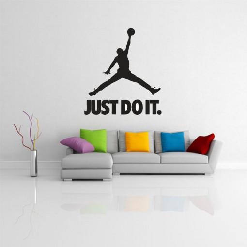 Sticker perete Silueta Jordan Just Do It