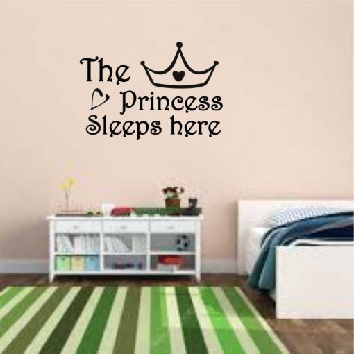 Sticker perete The Princess Sleeps Here