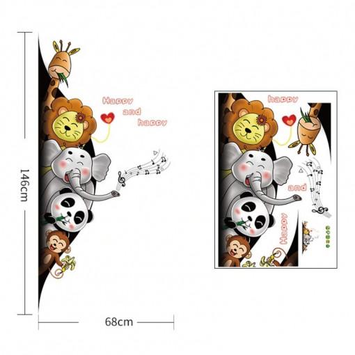 Sticker perete / Usa Happy Animals