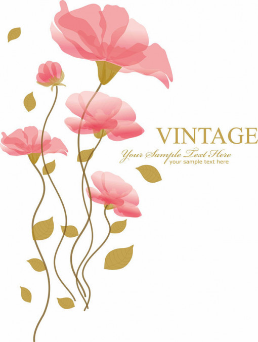 Sticker perete Vintage romantic Flower
