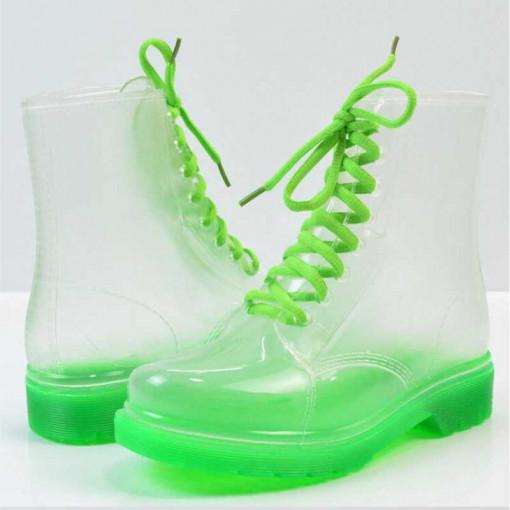 Ghete transparente Verde 39