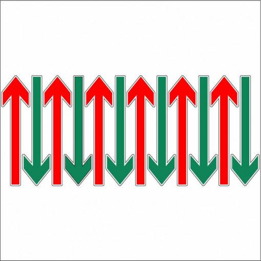 Sageti de directie podea set 12 buc rosu verde 1