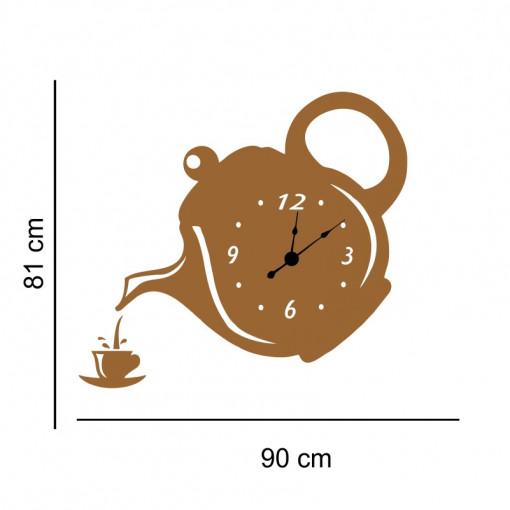 Sticker decorativ ceas Ceainic