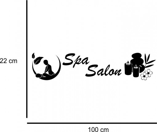 Sticker decorativ Salon Masaj 6
