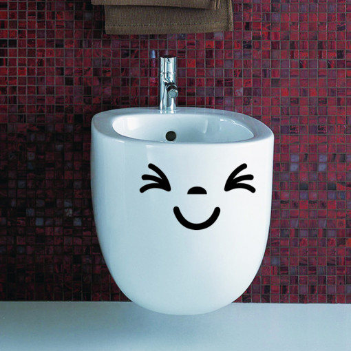 Sticker decorativ Smiling Face 3 12x20cm
