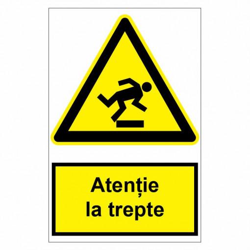 Sticker indicator Atentie la trepte
