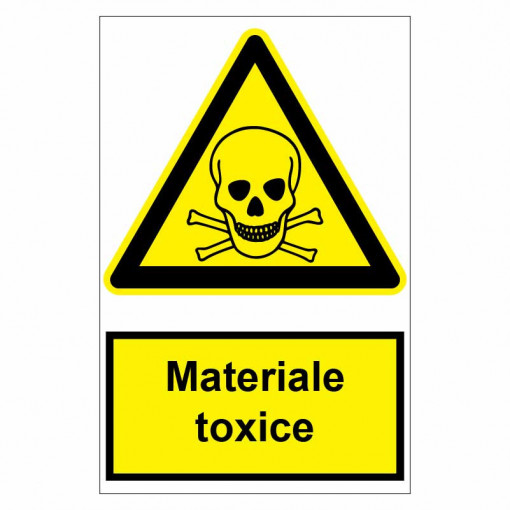 Sticker indicator Materiale toxice