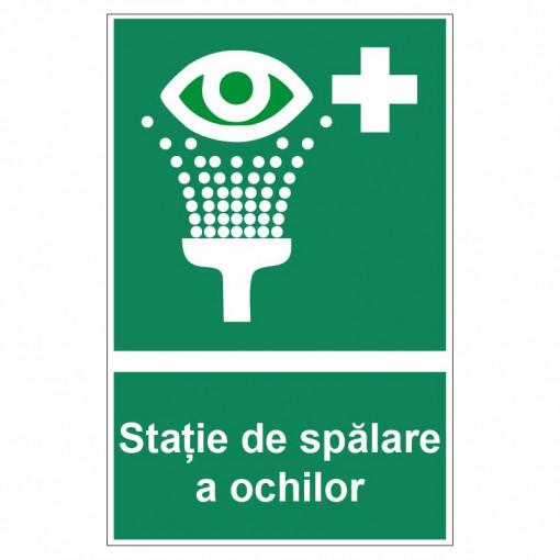 Sticker indicator Statie de spalare a ochilor