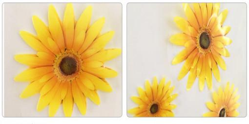Sticker perete Crizanteme galbene 3D 21x30 cm