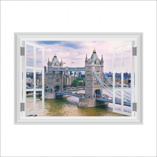Sticker perete England 3D Window