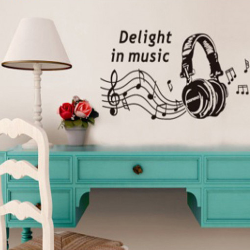 Sticker perete Love music