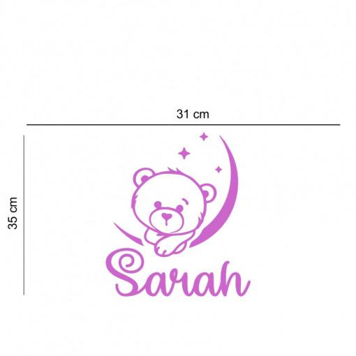Sticker perete personalizat My Name Girl 16