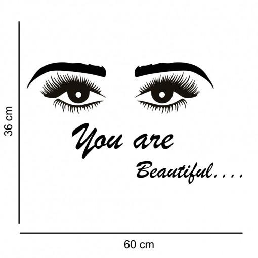 Sticker perete Salon Eyelashes 5