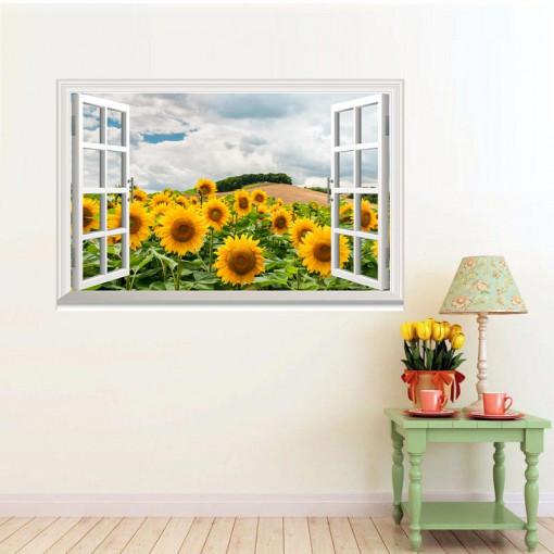 Fereastra Floarea Soarelui 3D 1