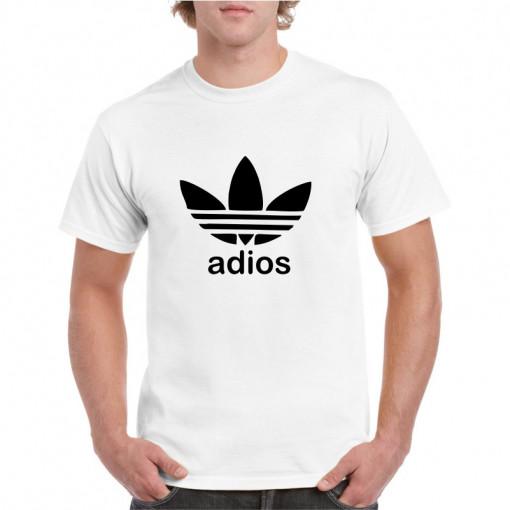 Tricou personalizat barbati alb Adios S