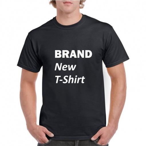 Tricou personalizat barbati negru Brand New T-Shirt