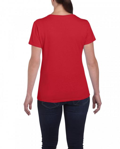 Tricou personalizat dama rosu A Girl Just Passed You S
