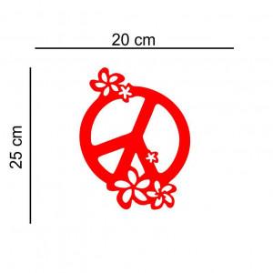 Sticker auto Flower Power