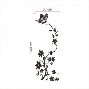 Sticker decorativ flori 50x140 cm