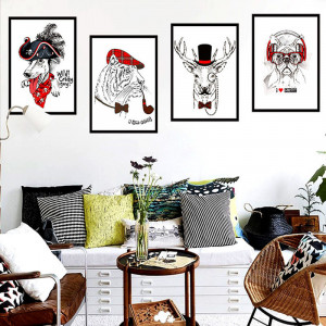 Sticker decorativ It all about looks 4 buc/set 130x37cm