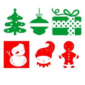 Sticker decorativ Set Decoratiuni Craciun
