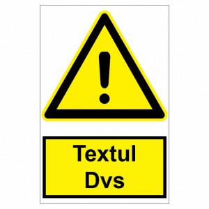 Sticker indicator Atentionare generala text personalizat