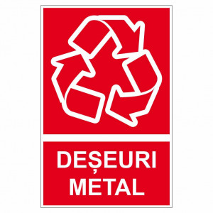 Sticker indicator Deseuri metal