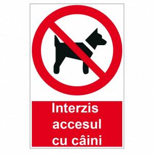 Sticker indicator Interzis accesul cu caini