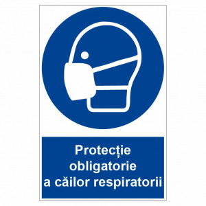 Sticker indicator Protectie obligatorie a cailor respiratorii