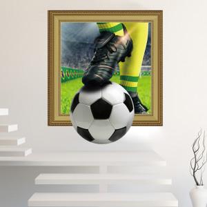 Sticker perete 3D Fotbal