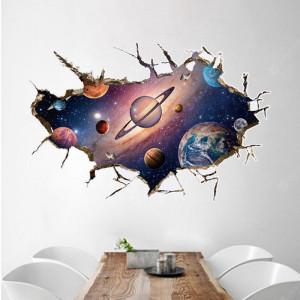 Sticker perete 3D Planets
