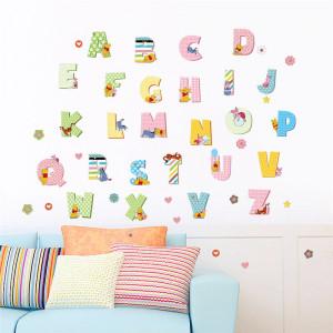 Sticker perete Alfabet Colorat
